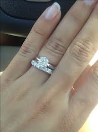wedding band with engagement ring show me your solitaire rings with an eternity diamond wedding band