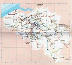 Transport Map Detailed Public Transport Map Of Belgium Belgium Detailed Public
