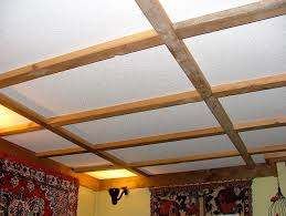 Drop Ceiling Grid by Suspended Ceiling Of Recycled Lumber By U0026 Barb Cain