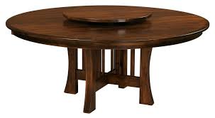 Amish Round Dining Table Arts Crafts Mission Base Solid Wood Leaf - Teak dining room chairs canada