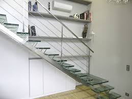 Stairs Standard Size by Quarter Turn Staircase Glass Steps Stainless Steel Frame