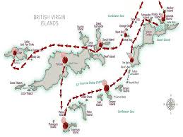 map of the bvi sle cruising itinerary bvi yacht charters