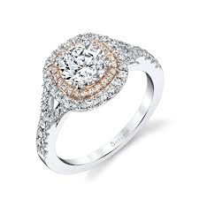 what is an engagement ring gold halo engagement ring two tone accent