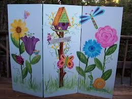 outdoor room dividers flower murals on outdoor walls childrens murals giant flowers