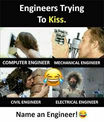 Electrical Engineering Meme - dopl3r com memes engineers trying to kiss computer engineer