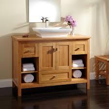 amazing 48 alcott bamboo vessel sink vanity bathroom on cabinets