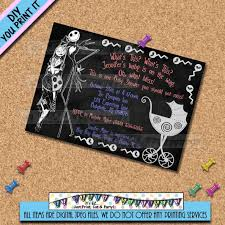 nightmare before christmas baby shower decorations nightmare before christmas baby shower invitations yourweek