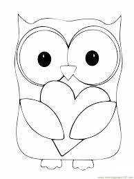 Owl Printable Coloring Pages Valentine Day Owl Hugging A Heart Coloring Pages Owl