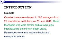 report writing introduction section