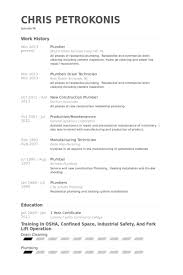 Automotive Resume Sample by Plumber Resume Samples Visualcv Resume Samples Database