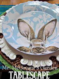 mr mcgregor s garden rabbit olla podrida mr mcgregor s garden tablescape