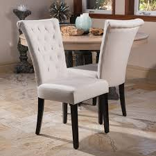 Tufted Dining Chair Set Venetian Tufted Dining Chairs Set Of 2 By Christopher