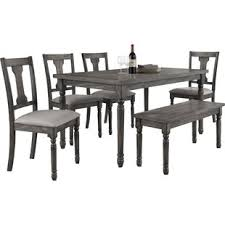 6 piece dining table and chairs black kitchen table and chairs durkee 6 piece dining set black