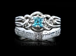 ring hand rings images Avalon blue diamond engagement puzzle ring and gaelic beloved 39 s jpg