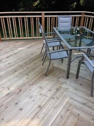 cedar deck in ottawa with basket weave deck board pattern yelp