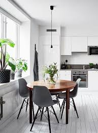 kitchen dining furniture white kitchen with a dining table via coco lapine design