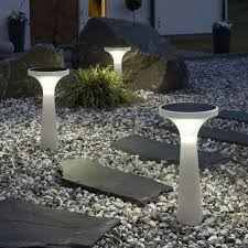 Bright Solar Landscape Lights Lighting Outside The Room As A Sitting Area With Bright Light