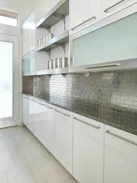 Steel Tile Backsplash by Stainless Steel Tile Backsplash Houzz
