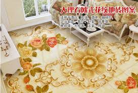 custom 3d pvc flooring waterproof self adhesive wallpaper jade