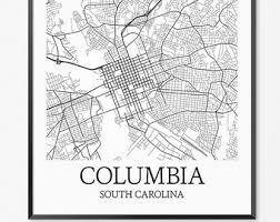 map of columbia south carolina columbia etsy