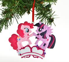my pony pinkie pie twilight sparkle personalized ornaments
