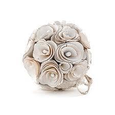 Pomander Balls Floral Pomander Ball With Wood Curls The Knot Shop