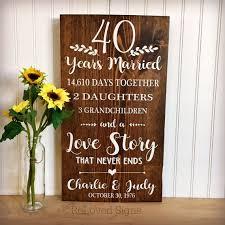 40 year anniversary gift ideas 40th anniversary 40 years married anniversary gift gifts wood