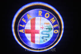 alfa romeo logo alfa romeo led door lights neon logo