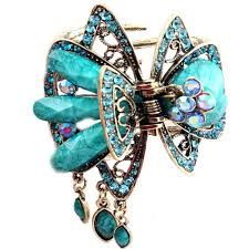 claw hair aliexpress buy mini butterfly blue vintage hair comb europe