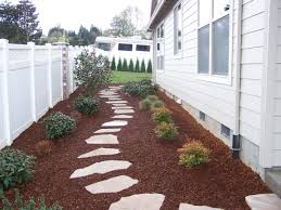 Backyard Ground Cover Ideas Sideyard Idea For Kensington Prefer Black Mulch Ground Cover