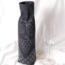 wine bottle gift bags sashiko wine bottle gift bag pattern a threaded needle