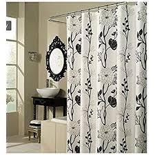Black Grey And White Shower Curtain Amazon Com Black Grey White Embossed Fabric Shower Curtain