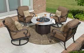 inspiration idea patio furniture fire pit with person cast aluminum