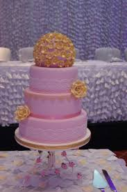 pink u0026 gold wedding cake 4 tiers handmade sugar roses and