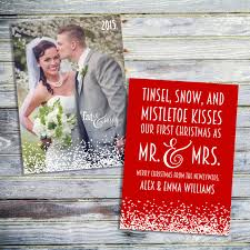 Newlywed Cards Our First Christmas As Mr And Mrs Card Just Married Christmas