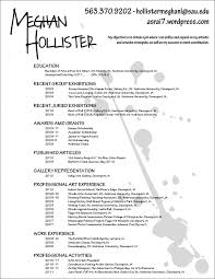 Resume For Artist Custom And Unique Artistic Resume Templates For Creative Work Art