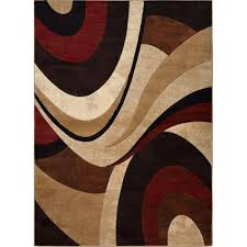 Floor Rugs by Home Dynamix Tribeca Brown Red 5 Ft 2 In X 7 Ft 2 In Indoor