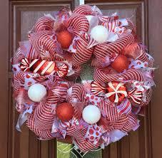 clearance sale deco mesh wreath peppermint