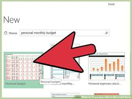 Microsoft Excel Expense Tracker Template How To Track Your Bills In Microsoft Excel 13 Steps