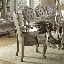 silver dining room sets metallic or mirror steve alberta candice