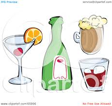alcoholic drinks clipart alcoholic beverages clipart clipground