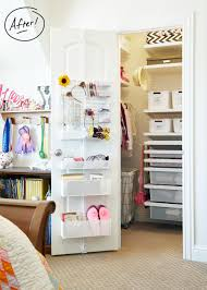 a double kids closet transformation with elfa container stories