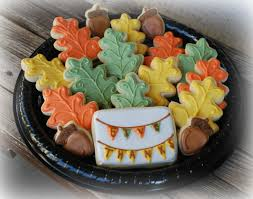 thanksgiving cookies fall cookies decorated cookies