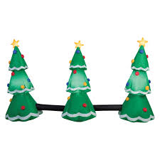 gemmy industries 3 tree light show christmas inflatable