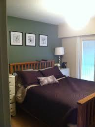 carolina gull by benjamin moore feature wall in master bedroom