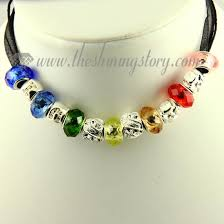 necklace making charms images European charms necklaces with rainbow crystal beads wholesale jpg
