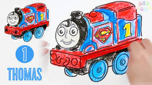 draw thomas train superman thomas friends minis