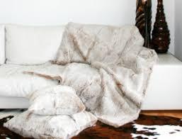 jeté de canapé en plaid fourrure couvre lit fourrure dessus de lit fourrure