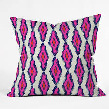 Purple Sofa Pillows by Holli Zollinger Ikat Pink And Navy Throw Pillow Deny Designs