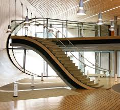 modern wooden staircase designs with cute handrails and handrail